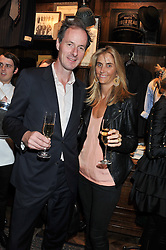 PATRICK SHERRIFF and JOSIE LINDOP at a reception hosted by Ralph Lauren Double RL and Dexter Fletcher before a private screening of Wild Bill benefitting FilmAid held at RRL 16 Mount Street, London on 26th March 2012.