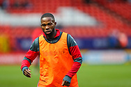Charlton Athletic midfielder Mark Marshall (7) warms up prior to the The FA Cup 2nd round match between Charlton Athletic and Doncaster Rovers at The Valley, London, England on 1 December 2018. Photo by Toyin Oshodi