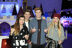 © Licensed to London News Pictures. 28/11/2014<br />  Only The Young.<br /> Mikey Bromley  19 <br /> Betsy-Blue English 18<br /> Parisa  Tarhomani 20<br /> Charlie George 17<br /> <br />  X-Factor stars Only The Young  were at Bluewater in Kent today (28.11.2014) to join in the fun at Winter Wonderland and see Santa.<br /> (Byline:Grant Falvey/LNP)