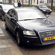 NLD/Utrecht/20070316 - Prinses maxima bezoekt de Nationale Marktdagen van Jong Ondernemen winkelcentrum Hoog Catharijne Utrecht, nieuwe Audi A8 W12