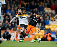 Kieron Freeman of Sheffield Utd in action with Kiko of Port Vale during the English League One match at Vale Park Stadium, Port Vale. Picture date: April 14th 2017. Pic credit should read: Simon Bellis/Sportimage