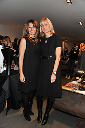 Left to right, LAILA AITKEN and ANNOUCHKA STAVELEY at a Atelier-Mayer Private Shopping Evening held at 18 Horbury Crescent, London W11 on 20th November 2012.