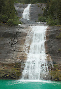 Waterfall in Tracy Arm Fjord Alaska Stock Photo