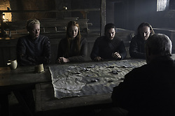 RELEASE DATE: April 24, 2016 season 6 TITLE: Game of Thrones STUDIO: HBO DIRECTOR: PLOT: In the mythical continent of Westeros, several powerful families fight for control of the Seven Kingdoms. As conflict erupts in the kingdoms of men, an ancient enemy rises once again to threaten them all. Meanwhile, the last heirs of a recently usurped dynasty plot to take back their homeland from across the Narrow Sea. STARRING: GWENDOLINE CHRISTIE, KIT HARINGTON, SOPHIE TURNER. (Credit Image: © HBO/Entertainment Pictures/ZUMAPRESS.com)
