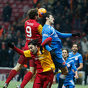 Galatasaray's Selcuk Inan (F) during their Turkish Super League soccer match Galatasaray between MP Antalyaspor at the TT Arena Stadium at Seyrantepe in Istanbul Turkey on Saturday 01 February 2012. Photo by TURKPIX