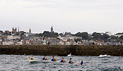 St Peter's Port, Guernsey, CHANNEL ISLANDS,   Killorglin Ladies 4's, [winners on both days at the Coastal Rowing  Rowing championships] from the Killorglin Rowing Club, IRELAND.  2006 FISA Coastal Rowing  Challenge,  02/09/2006.  Photo  Peter Spurrier, © Intersport Images,  Tel +44 [0] 7973 819 551,  email images@intersport-images.com