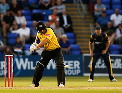 Gloucestershire's Ryan Higgins in action today <br /> <br /> Photographer Simon King/Replay Images<br /> <br /> Vitality Blast T20 - Round 8 - Glamorgan v Gloucestershire - Friday 3rd August 2018 - Sophia Gardens - Cardiff<br /> <br /> World Copyright © Replay Images . All rights reserved. info@replayimages.co.uk - http://replayimages.co.uk