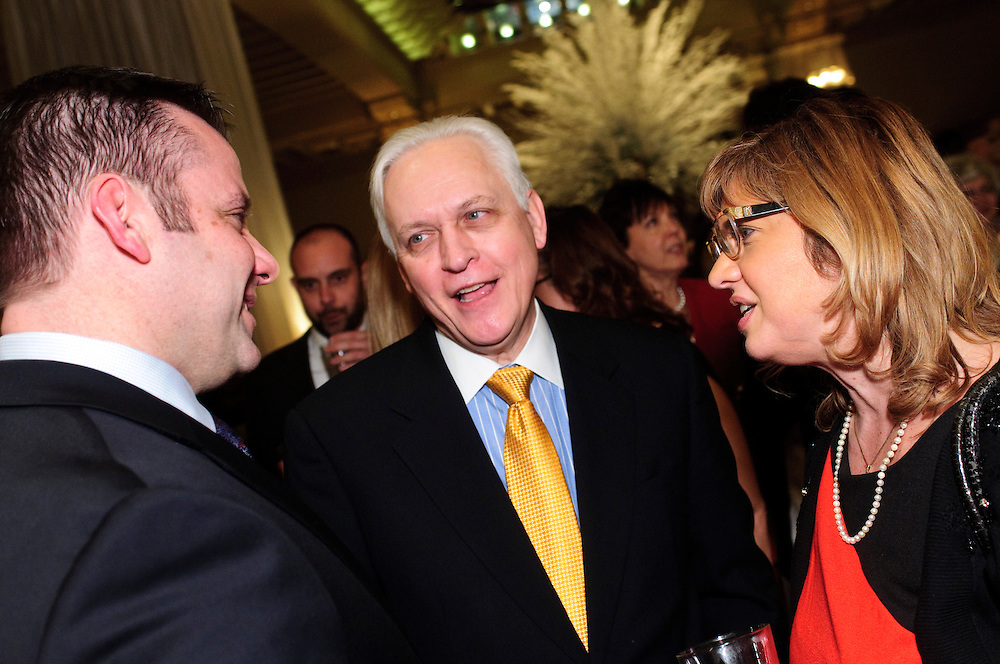 From left to right- Cook County Circuit Court Judges Gregory E. Ahern Jr., Daniel J Kubasiak and Diann K. Marsalek chat during the 82nd Annual Installation and Awards Dinner of The Advocates Society, the association of Polish-American lawyers at the Drake Hotel on Wednesday, February 6th. © 2013 Brian J. Morowczynski ViaPhotos