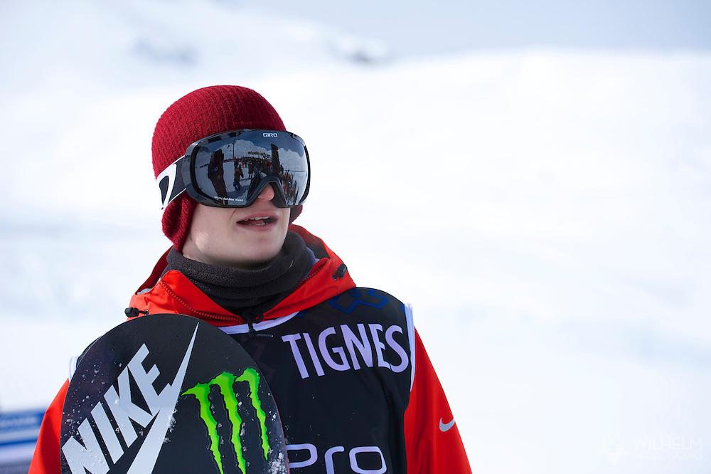 Peetu Piiroinen during Men's Snowboard Slopestyle Eliminations at the 2013 X Games Tignes in Tignes, France. ©Brett Wilhelm/ESPN