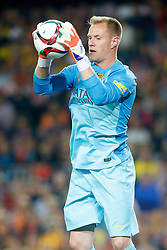 30.05.2015, Camp Nou, Barcelona, ESP, Copa del Rey, Athletic Club Bilbao vs FC Barcelona, Finale, im Bild FC Barcelona's Marc-Andre Ter Stegen // during the final match of spanish king's cup between Athletic Club Bilbao and Barcelona FC at Camp Nou in Barcelona, Spain on 2015/05/30. EXPA Pictures © 2015, PhotoCredit: EXPA/ Alterphotos/ Acero<br /> <br /> *****ATTENTION - OUT of ESP, SUI*****