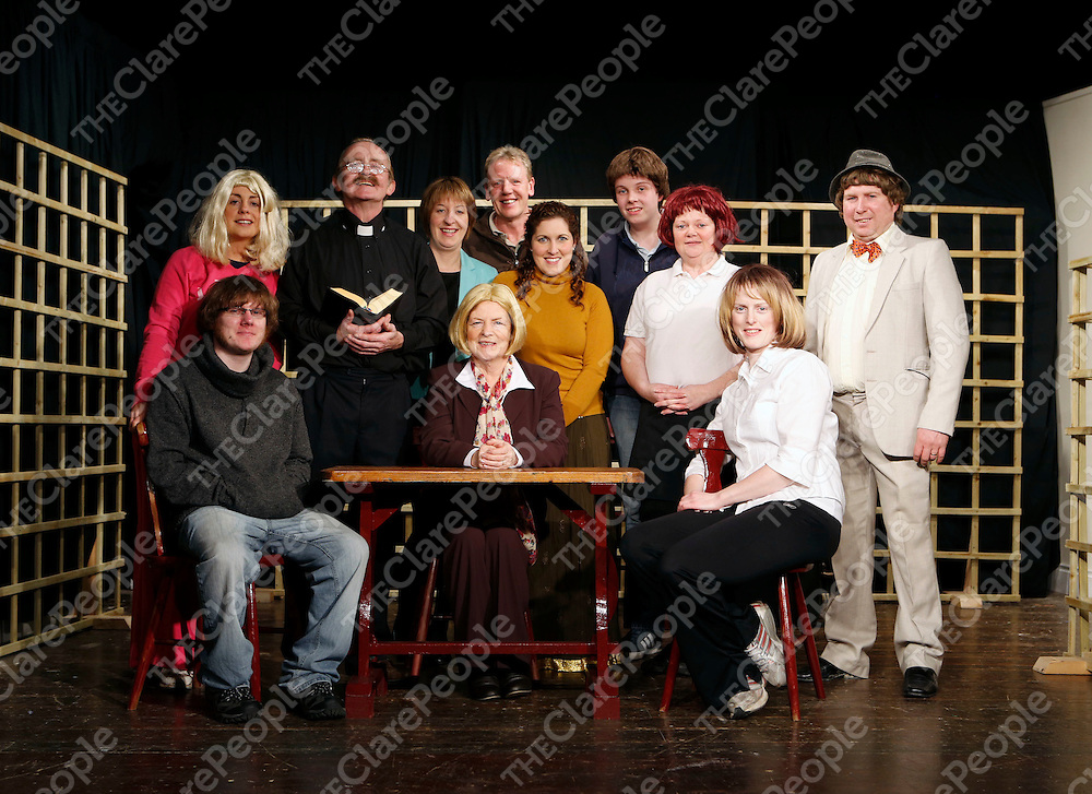 17/02/2013<br /> Cast and director pictured at Dress Rehersal for Fortunes and Misfortunes at Mullagh Hall.<br /> Picture: Don Moloney / Press 22