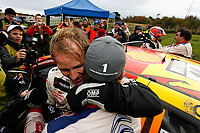 MOTORSPORT - WORLD RALLY CHAMPIONSHIP 2010 - WALES RALLY GB / RALLYE DE GRANDE-BRETAGNE - CARDIFF (GBR) - 11 TO 14/11/2010 - PHOTO : ALEXANDRE GUILLAUMOT / DPPI - <br /> PETTER SOLBERG (NOR) - CITROËN C4 WRC - PETTER SOLBERG WORLD RALLY TEAM - AMBIANCE<br /> SEBASTIEN LOEB (FRA) - CITROËN C4 WRC - CITROËN TOTAL WRT - AMBIANCE