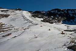 04.11.2011, Moelltaler Gletscher, Flattach, AUT, DSV Medientag, im Bild Feature vom Trainigshang am