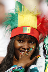 fan of Senegal during the 2018 FIFA World Cup Russia group H match between Poland and Senegal at the Otkrytiye Arena on June 19, 2018 in Moscow, Russia