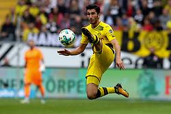 FRANKFURT, Oct. 22, 2017  Dortmund's Nuri Sahin controls the ball during a German Bundesliga match between Eintracht Frankfurt and Borussia Dortmund, in Frankfurt, Germany, on Oct. 21, 2017. The match tied 2-2. (Credit Image: © Joachim Bywaletz/Xinhua via ZUMA Wire)