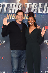 Jason Isaacs and Sonequa Martin-Green pictured at a Star Trek: Discovery fan screening, at Milbank Tower in London. PRESS ASSOCIATION Photo. Picture date: Sunday November 5th, 2017. Photo credit should read: Matt Crossick/PA Wire.