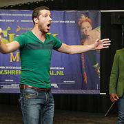 NLD/Amsterdam/20120919- Perspresentatie musical Shrek, Rogier Komproe en William Spaaij