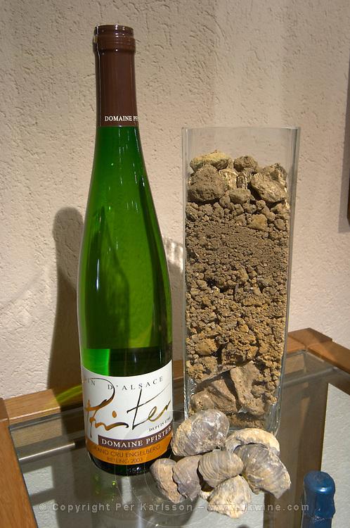 bottles and soil samples dom pfister dahlenheim alsace france