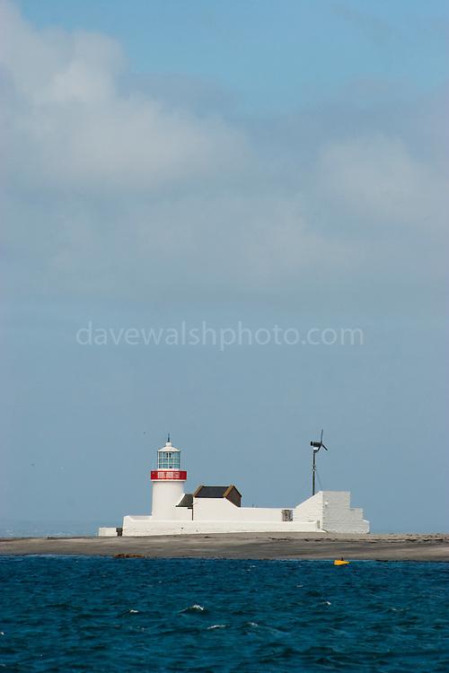 Straw Island Lighthouse on Inishmore, the Aran Islands, Galway, Ireland