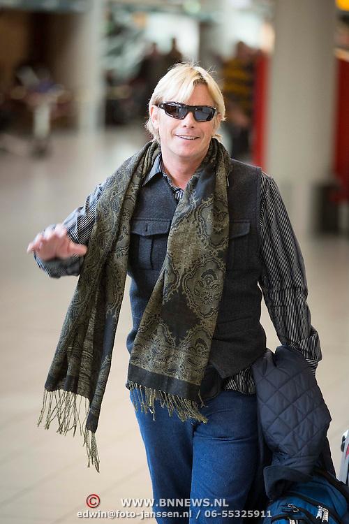 NLD/Amsterdam/20140212 - Aankomst Amerikaanse acteur Christopher Atkins - Bomann op Schiphol <br /> <br /> Arrival of the American actor Christopher Atkins Bomann on Schiphol in Amsterdam Netherlands