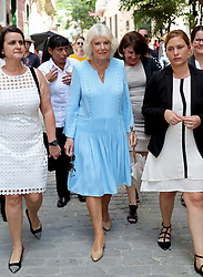 The Duchess of Cornwall during a guided tour of Old Havana, in Havana, Cuba.