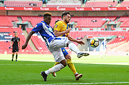 Gavin James of Thatcham Town (10) and Nathan Mulligan of Stockton Town (4) in action during the FA Vase match between Stockton Town and Thatcham Town at Wembley Stadium, London, England on 20 May 2018. Picture by Stephen Wright