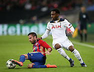Tottenham's Danny Rose tussles with  CSKA Moscow's Zoran Tosic during the Champions League group match at Wembley Stadium, London. Picture date December 7th, 2016 Pic David Klein/Sportimage
