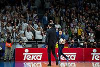 FC Barcelona Lassa's coach Georgios Bartzokas duringTurkish Airlines Euroleague match between Real Madrid and FC Barcelona Lassa at Wizink Center in Madrid, Spain. March 22, 2017. (ALTERPHOTOS/BorjaB.Hojas)