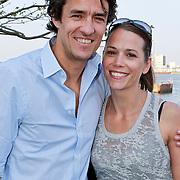 NLD/Amsterdam/20110420 - Presentatie nieuwe editie L' Homme, John van Lottum en partner Denise Boeijen