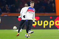 England Alfie Mawson in warm up during the Friendly match between Netherlands and England at the Amsterdam Arena, Amsterdam, Netherlands on 23 March 2018. Picture by Phil Duncan.