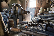 Blacksmith demonstration. Conner Prairie Interactive History Park provides family-friendly fun for all ages in Fishers, Indiana, USA. Founded by pharmaceutical executive Eli Lilly in the 1930s, Conner Prairie living history museum now recreates life in Indiana in the 1800s on the White River and preserves the William Conner home (listed on the National Register of Historic Places).