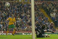 Photo: Glyn Thomas.<br />Birmingham City v Norwicht. Carling Cup.<br />26/10/2005.<br /> Norwich's Dean Ashton (L) scores his team's equaliser.
