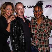 Owner of Muse Soho Tara Sirrell,Tom Knight and Toya Delazy at the World AIDS Day Extravaganza at Muse Soho,London,UK one night to help raise money for GMFA – The gay men's health charity and their HIV prevention and stigma-challenging work on 1st December 2016 in Soho,London,UK. Photo by See Li