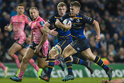 December 16, 2017 - Dublin, Ireland - Luke McGrath of Leinster team in action on his way to score a try against Exeter Chiefs during the  European Rugby Champions Cup rugby match at Aviva Stadium...On Saturday, 16 December 2017, in Dublin, Ireland. (Credit Image: © Artur Widak/NurPhoto via ZUMA Press)