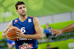 Antoine Diot #6 of France during basketball match between National teams of France and Great Britain at Day 2 of Eurobasket 2013 on September 5, 2013 in Tivoli Hall, Ljubljana, Slovenia. (Photo By Urban Urbanc / Sportida )