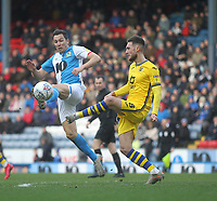 Blackburn Rovers Stewart Downing in action with Swansea City's Matt Grimes<br /> <br /> Photographer Mick Walker/CameraSport<br /> <br /> The EFL Sky Bet Championship - Blackburn Rovers v Swansea City - Saturday 29th February 2020 - Ewood Park - Blackburn<br /> <br /> World Copyright © 2020 CameraSport. All rights reserved. 43 Linden Ave. Countesthorpe. Leicester. England. LE8 5PG - Tel: +44 (0) 116 277 4147 - admin@camerasport.com - www.camerasport.com