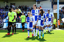 Mascot walk out - Mandatory by-line: Dougie Allward/JMP - 12/08/2017 - FOOTBALL - Memorial Stadium - Bristol, England - Bristol Rovers v Peterborough United - Sky Bet League One