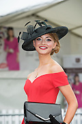 30/07/2015 report free : Winners Announced in Kilkenny Best Dressed Lady, Kilkenny Best Irish Design & Kilkenny Best Hat Competition at Galway Races Ladies Day <br /> From Left at the event was Maria Tennison <br /> Photo:Andrew Downes, xposure