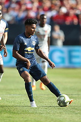 July 28, 2018 - Ann Arbor, Michigan, United States - Demitri Mitchell (35) of Manchester carries the ball during an International Champions Cup match between Manchester United and Liverpool at Michigan Stadium in Ann Arbor, Michigan USA, on Wednesday, July 28,  2018. (Credit Image: © Amy Lemus/NurPhoto via ZUMA Press)