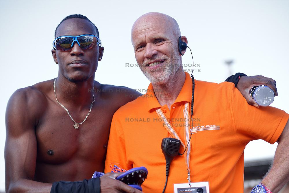 31-07-2015 NED: Asics NK Atletiek, Amsterdam<br /> Nk outdoor atletiek in het Olympische stadion Amsterdam /  Liemarvin Bonevacia wint de 400 meter, Eric Roeske
