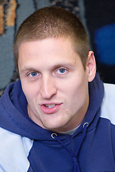 Matija Kranjc when Slovenian athletes and their coaches sign contracts with Athletic federation of Slovenia for year 2009,  in AZS, Ljubljana, Slovenia, on March 2, 2009. (Photo by Vid Ponikvar / Sportida)