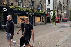 Some bars on the famous Rose Street have decided not to open yet as they do not have outside space.<br /> <br /> Princes Street in Edinburgh has been hit hard by the Covid19 lockdown and the locals are taking time to get used to new freedoms. Queues outside fast food outlets are, sadly, no surprise.