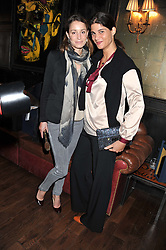 GEORGINA RYLANCE and KATRINA PAVLOS at the launch of the Johnnie Walker Blue Label Club held at The Scotch, Mason's Yard, London on 1st May 2012.