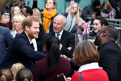 © Licensed to London News Pictures. 08/03/2018. Birmingham, UK. PRINCE HARRY meets members of the public while attending Stemettes International Women's Day event at Millennium Point in Birmingham. Photo credit: Dave Warren/LNP