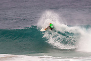 Danny Fuller advances in 1st to round 2 from round 1 heat 4 of the Volcom Pipe Pro held at Pipeline, Oahu, Hawaii.