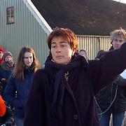 Actie Milieudefensie tegen aanleg A6 door het Gein Abcoude, directeur Vera Dalm