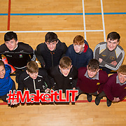 20.10.17.            <br /> Enjoying the LIT (Limerick School of Technology) open day were, Our Ladies Secondary School Templemoore Harty cup winners with LITS Paul Browne. Picture: Alan Place