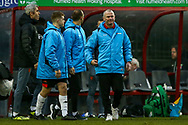 Woking Manager Alan Dowson at the end of the The FA Cup 3rd round match between Woking and Watford at the Kingfield Stadium, Woking, United Kingdom on 6 January 2019.