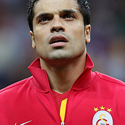 Galatasaray's Gokhan ZAN during their Turkish Super League soccer match Galatasaray between Eskisehirspor at the TT Arena at Seyrantepe in Istanbul Turkey on Monday, 26 September 2011. Photo by TURKPIX