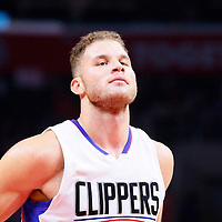 16 December 2015: Los Angeles Clippers forward Blake Griffin (32) is seen during the Los Angeles Clippers 103-90 victory over the Milwaukee Bucks, at the Staples Center, Los Angeles, California, USA.